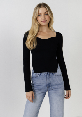 August Apparel: Fitted Long Sleeve Sweater