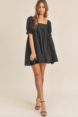 Mable: Puff Sleeve Babydoll Dress