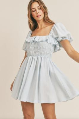 Mable: Top Detail Mini Dress
