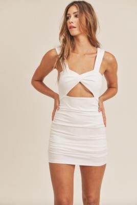 Mable: Ribbed Bodycon Mini Dress