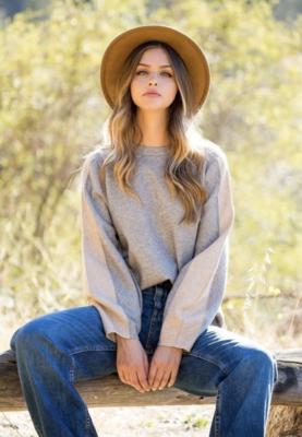 Thml: Brown Stripe Knit Sweater