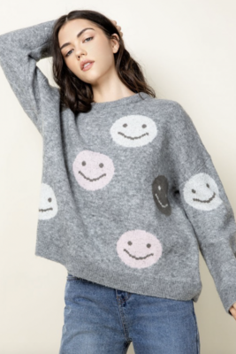 Thml: Smiley Face Sweater