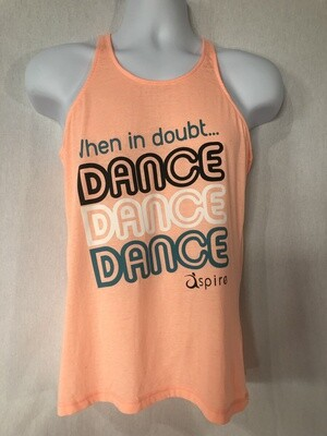 Women's When in Doubt Dance Racerback Tank