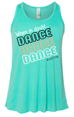 Youth When in Doubt Dance Racerback Tank