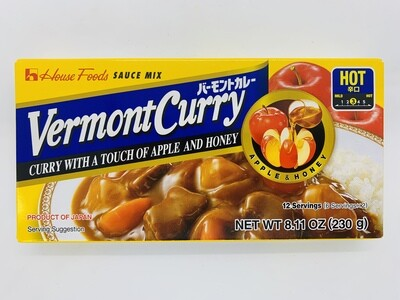 House Vermont Curry Hot 230g