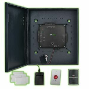 ZKTeco Atlas100-1 Complete Single Door Access Control Kit Capable of Using Weigand and OSDP Readers - Supports PoE Power and Wi-Fi
