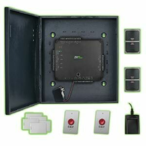 ZKTeco Atlas200-2 Door Kit: Complete Double Door Access Control Kit Capable of Using Weigand and OSDP Readers - Supports PoE Power and Wi-Fi