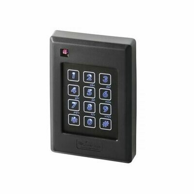 ZKTeco Multi-Technology Proximity Card Reader with Integrated Keypad and Single-Gang Wall Box Mount (KR502H)