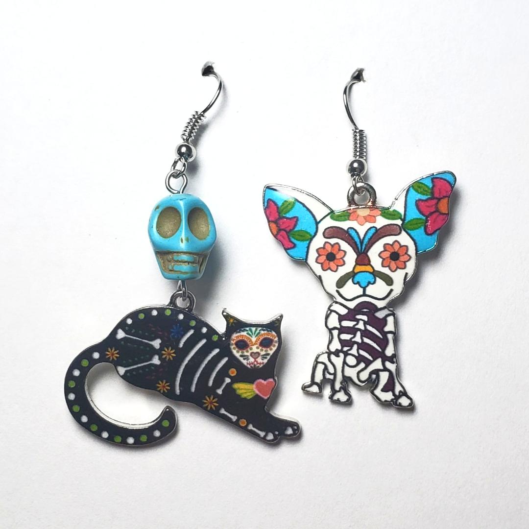 Sugar Skull Friends Earrings