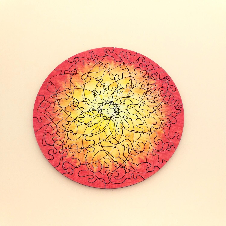 Sunburst Mandala Wooden Puzzle