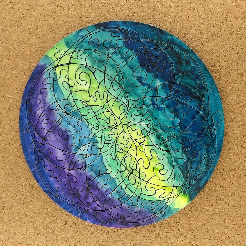 Geode Mandala Wooden Puzzle