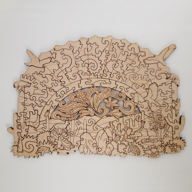 Sonoran Desert Wooden Puzzle