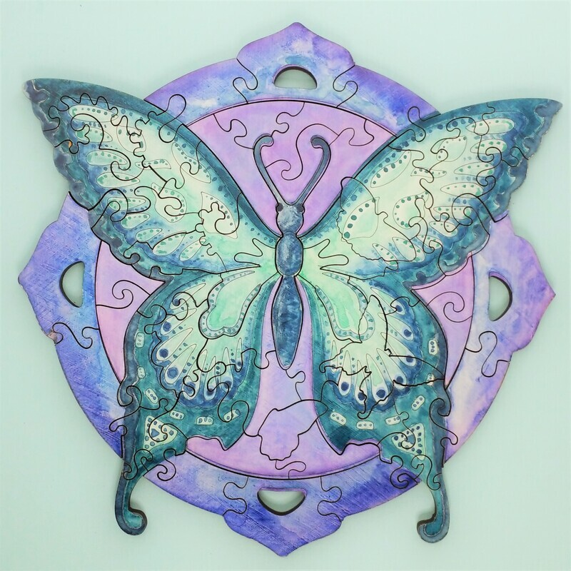 Summer Butterfly Wooden Puzzle - Paint Your Own
