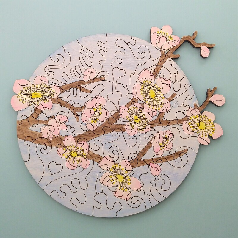 Cherry Blossom Wooden Puzzle