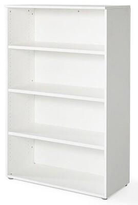 Armario medio sin puertas (93cm ancho x 141,6cm altura x 42,5cm fondo) color blanco u olmo