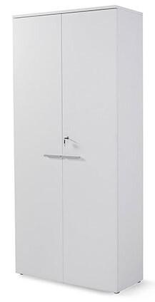 Armario alto con puertas y cerradura (208,8 x 93 x 42,5cm) blanco.
