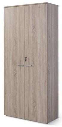 Armario alto con puertas y cerradura (93cm ancho x 208,8cm altura x 42,5cm fondo) color blanco u olmo