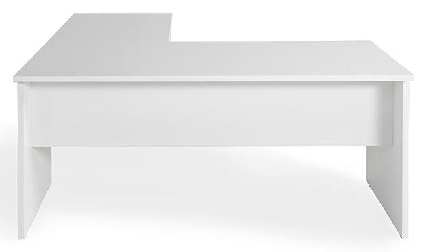 Mesa COR de 160x80cm con ala de 100x60cm color blanco.