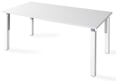 Mesa NEK de 160x80cm sobre color blanco u olmo y patas combinado blanco/gris aluminio