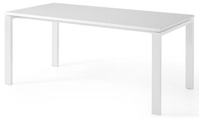 Mesa POR de 140x80cm sobre color blanco u olmo y patas color blanco o gris aluminio