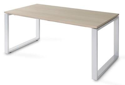 Mesa SKA de 140x80cm sobre color blanco u olmo y patas color blanco o gris aluminio