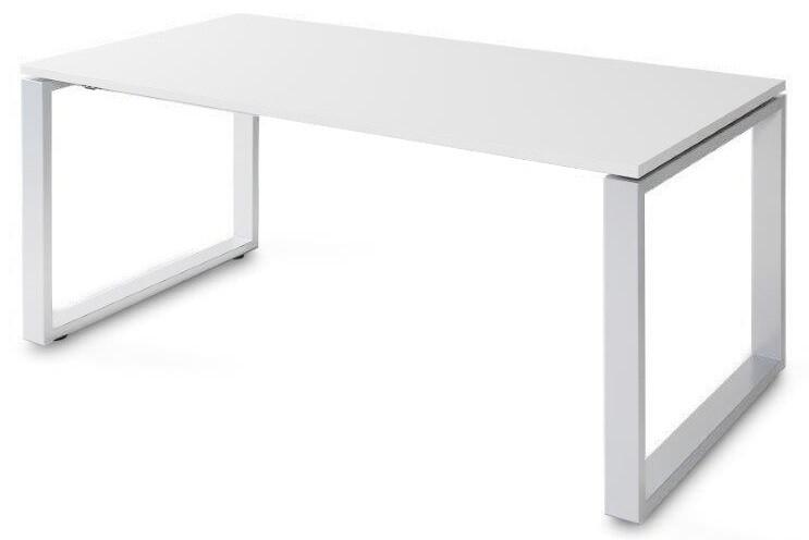 Mesa SKA de 160x80cm sobre color blanco u olmo y patas color blanco o gris aluminio