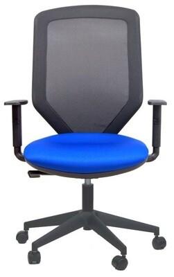 Silla Sare de Biplax. Respaldo alto malla y asiento tapizado Radio.