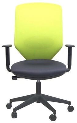 Silla Sare de Biplax. Respaldo alto doble malla y asiento tapizado Radio.