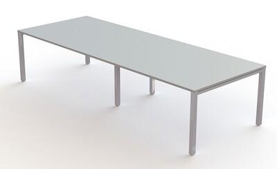 Mesa reuniones ENIX de 320x120cm (también largo 360cm y 400cm), sobre color a escoger y patas metálicas color blanco, gris plata o negro.