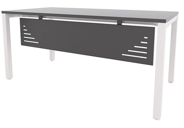 Mesa ENIX de 180x80cm (largos de 120 a 200cm, ancho 60 y 80cm). Faldón metálico opcional.