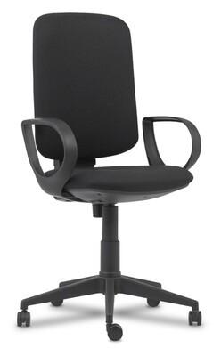 Silla Elina Contacto. Respaldo y asiento tapizado.
