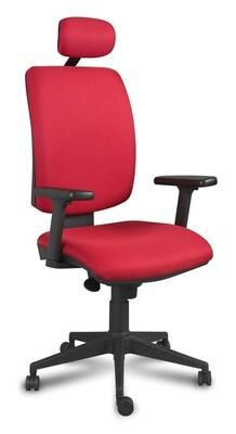 Silla Signo Cabezal Sincro. Respaldo y asiento tapizado.
