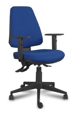 Silla Equis Asyncro. Respaldo y asiento tapizado.