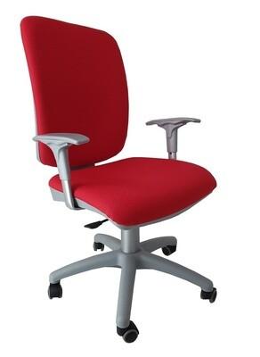 Silla Signo Silver Contacto Permanente. Respaldo y asiento tapizado.