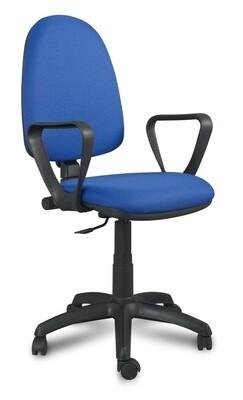 Silla Saldaña Alta Contacto Permanente. Respaldo y asiento tapizado.