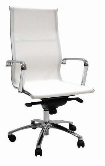 Sillón JR Malla Alto color blanco. Respaldo y asiento en malla.