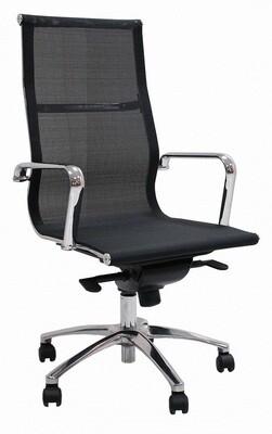 Sillón JR Malla Alto color negro. Respaldo y asiento en malla.
