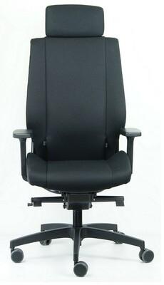 Silla Nexo 8 HRS de Biplax. Tapizado XTREME color negro.