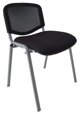 Silla Goa respaldo en malla y asiento tapizado Basic.