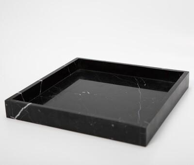 Marmeren Dienblad Zwart - Vierkant 30cm X 30cm X 4cm