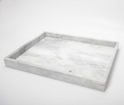 Marmeren Dienblad Wit - Rechthoek 40cm X 30cm X 4cm