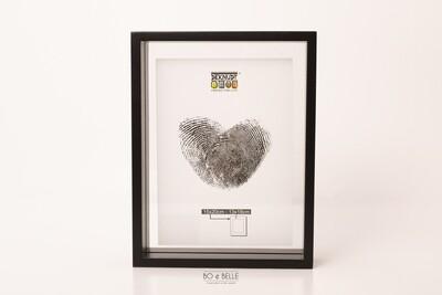 Glaskader in zwart hout met zwevend foto effect 15x20