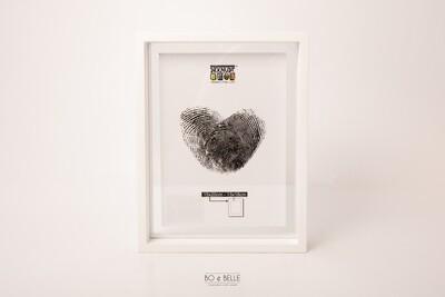 Glaskader in wit hout met zwevend foto effect 25x25