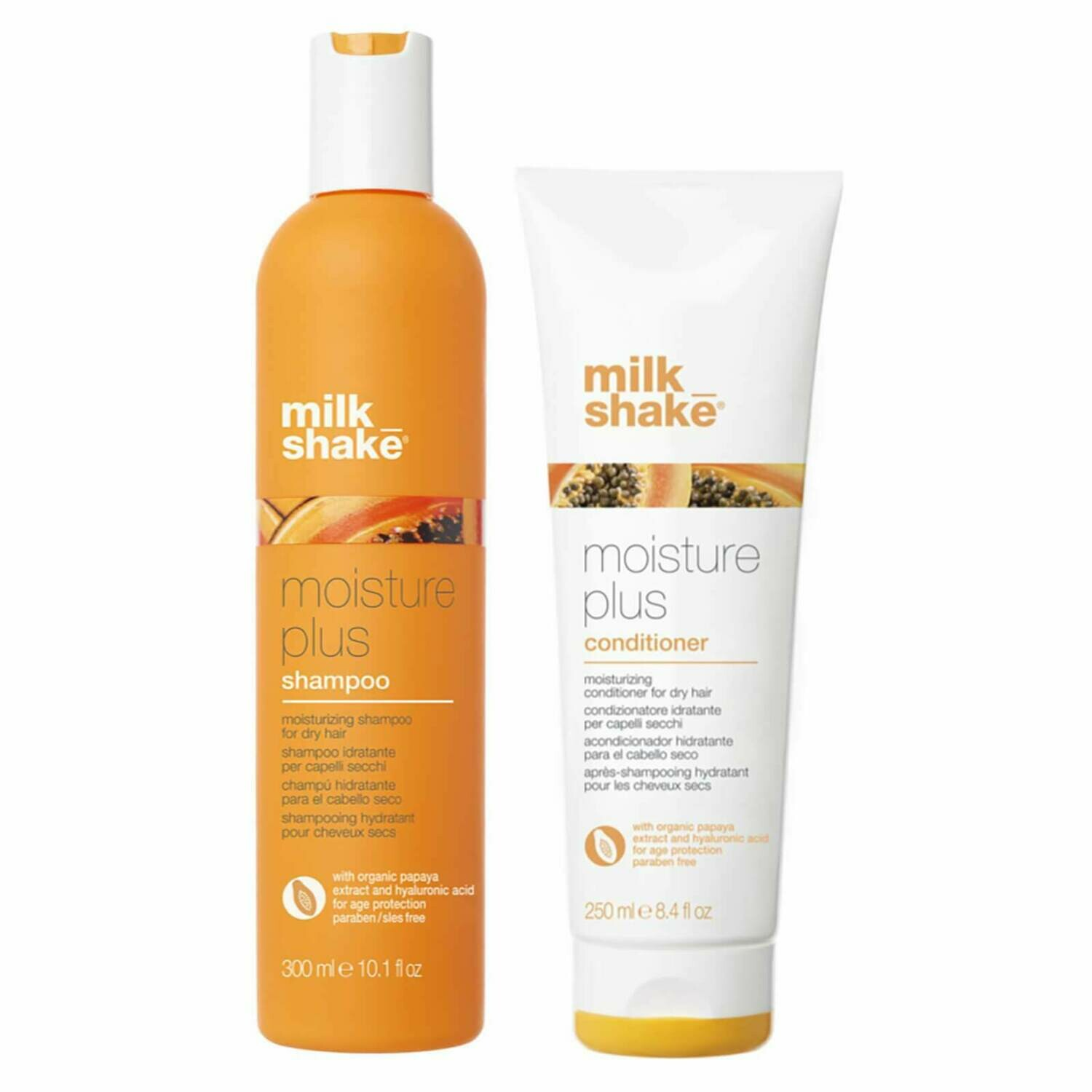 Moisture plus shampoo en conditioner duo kit.