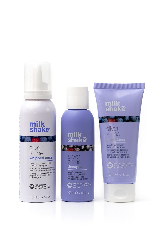 Silver shine Whipped Cream + Shampoo + Conditioner 100ml set