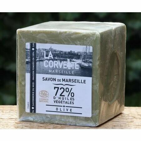 Blok biologische Marseillezeep 200 gram olijven WISLA VLAANDEREN