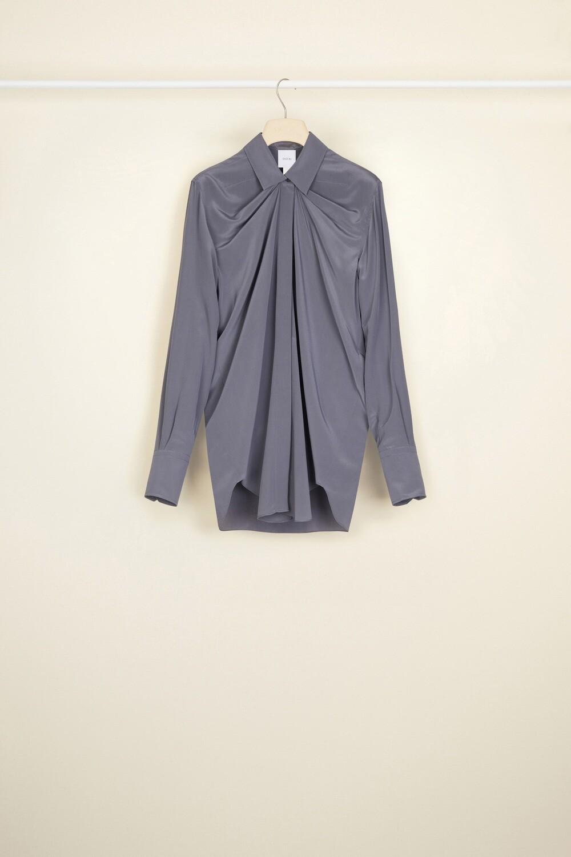 PATOU Ikonische drapierte Bluse aus Seide