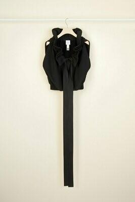 PATOU Ärmelloses Sweatshirt aus Bio-Baumwolle mit Ripsband