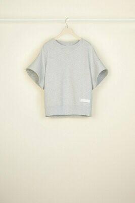 PATOU Abgestepptes Kurzarm-Sweatshirt aus Bio-Baumwolle