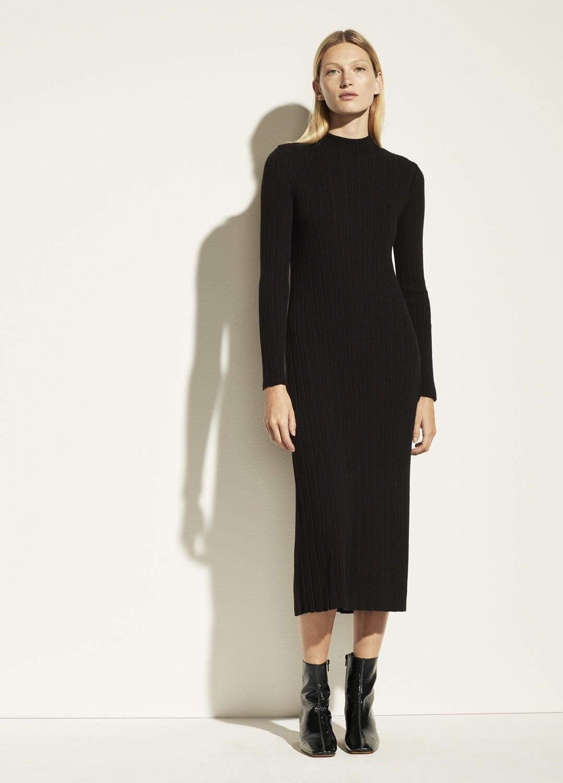 VINCE. Rippenpullover-Kleid